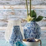 Parlane Blue Havana Vases